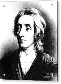 John Locke, English Philosopher, Father Acrylic Print by Science Source