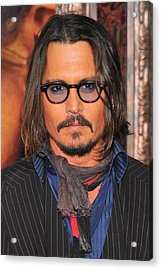 Johnny Depp At Arrivals For The Tourist Acrylic Print by Everett