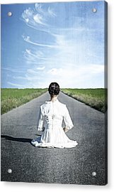 Lady On The Road Acrylic Print by Joana Kruse