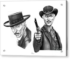 Lee Van Cleef Acrylic Print by Murphy Elliott
