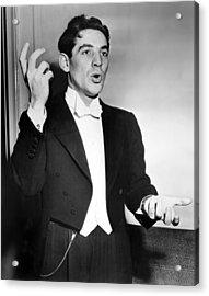 Leonard Bernstein 1918-1990 American Acrylic Print by Everett