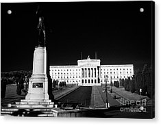 Lord Carson Statue At The Northern Ireland Parliament Buildings Stormont Belfast Northern Ireland Uk Acrylic Print by Joe Fox