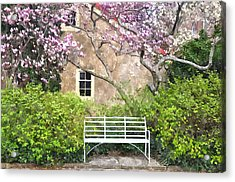 Magnolia Garden Acrylic Print by Andrew Dinh
