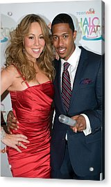 Mariah Carey, Nick Cannon At A Public Acrylic Print by Everett