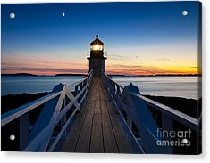 Marshall Point Light Acrylic Print by Brian Jannsen
