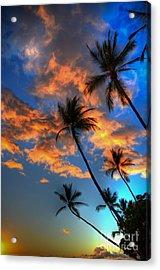 Maui Sunset Acrylic Print by Kelly Wade