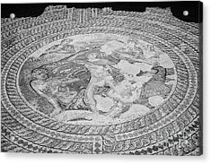 Mosaics On The Floor Of The House Of Theseus Roman Villa At Paphos Archeological Park Cyprus Acrylic Print by Joe Fox