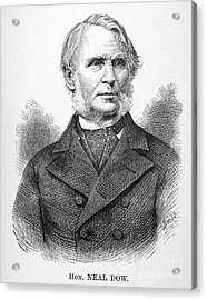 Neal Dow (1804-1897) Acrylic Print by Granger