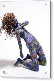 Nectar A Sculpture By Adam Long Acrylic Print by Adam Long
