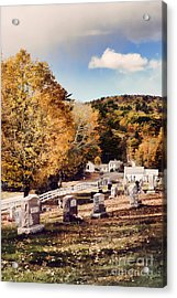 New England Cemetery Acrylic Print by HD Connelly