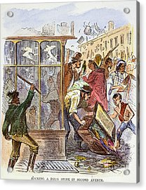 New York: Draft Riots 1863 Acrylic Print