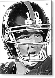 New York Giants  Eli Manning Acrylic Print by Jack K