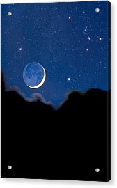 Night Sky Acrylic Print by David Nunuk