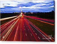 Night Traffic Acrylic Print by Elena Elisseeva