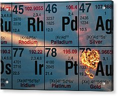 Nuggets Of Gold On Periodic Table Acrylic Print
