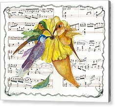 2 Of 2 - Natures Symphony-in Three-part Harmony Acrylic Print