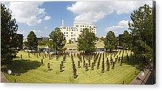 Oklahoma City National Memorial Acrylic Print by Ricky Barnard