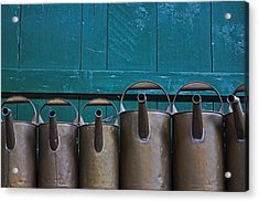 Old Watering Cans Acrylic Print by Joana Kruse