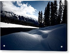 Open Water In Winter Acrylic Print by Mark Duffy