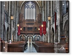 Organ Loft Acrylic Print by David Bearden