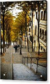Paris Stairs Acrylic Print