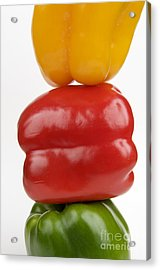 Peppers Acrylic Print by Bernard Jaubert