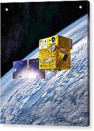 Picard Satellite, Artwork Acrylic Print by David Ducros