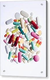 Pills Acrylic Print by Cristina Pedrazzini