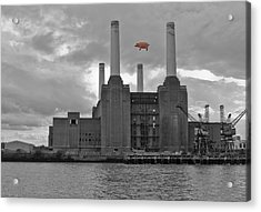 Pink Floyd Pig At Battersea Acrylic Print