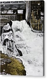 Post Falls Dam Acrylic Print by Grover Woessner