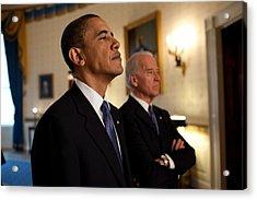 President Obama And Vp Biden Acrylic Print by Everett