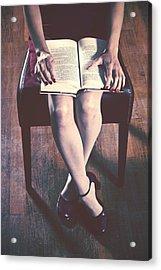 Reading Acrylic Print by Joana Kruse
