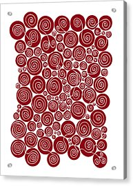 Red Abstract Acrylic Print by Frank Tschakert