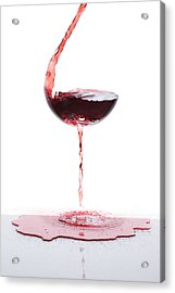 Red Wine Acrylic Print by Floriana Barbu