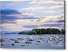 River Boats On Danube Acrylic Print by Elena Elisseeva