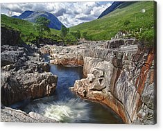 River Etive Acrylic Print by Fiona Messenger
