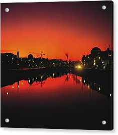 River Liffey, Dublin, Co Dublin, Ireland Acrylic Print by The Irish Image Collection