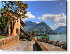 Road And Mountain Acrylic Print