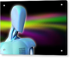 Robot, Artwork Acrylic Print by Victor Habbick Visions