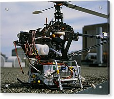Robotic Helicopter Acrylic Print by Volker Steger