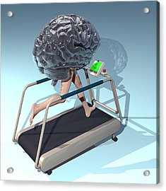 Running Brain, Conceptual Artwork Acrylic Print by Laguna Design