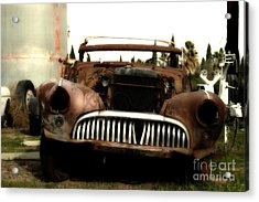 Rusty Old American Car . 7d10343 Acrylic Print by Wingsdomain Art and Photography