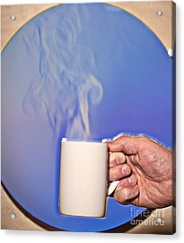 Schlieren Image Of Hot Coffee Cup Acrylic Print by Ted Kinsman