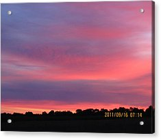 September 16 Sunrise Acrylic Print by Tina M Wenger