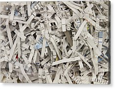 Shredded Paper Acrylic Print by Blink Images