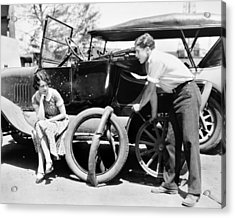 Silent Film: Automobiles Acrylic Print by Granger