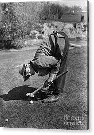 Silent Film Still: Golf Acrylic Print by Granger