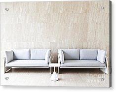 2 Sofas Acrylic Print by Chavalit Kamolthamanon