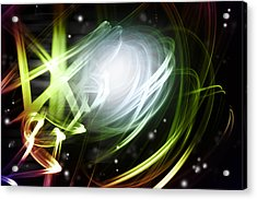 Space Background Acrylic Print by Les Cunliffe