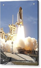 Space Shuttle Atlantis Twin Solid Acrylic Print by Stocktrek Images